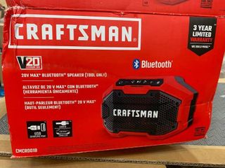 Craftsman 20 volt  blue tooth speaker  no battery included