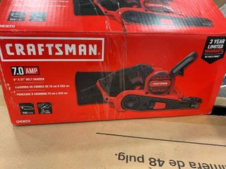 Craftsman 7 0 amp 3a x 21a belt sander   plugged in and works