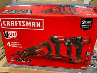 Craftsman 20 volt 4 Tool combo kit  tested all works and looks brand new