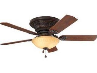 Harbor Breeze lynstead specialty bronze finish ceiling fan 52