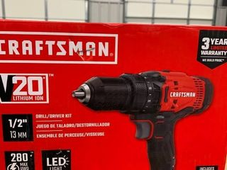 Craftsman 20 volt drill driver kit   works  does not include charger