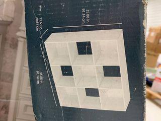 Closetmaid stackable 9 cube organizer  white