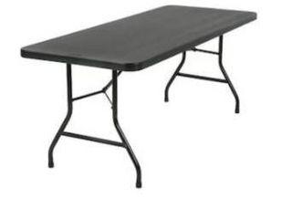 Cosco 6 ft straight black resin table