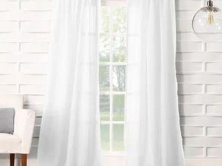No  918 ladonna Rod Pocket Solid Semi Sheer Window Curtain Panel