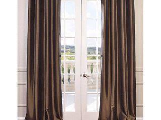 Exclusive Fabrics Faux Silk Taffeta 96 inch Blackout Curtain Panel