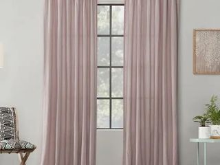 Archaeo Washed Cotton Twist Tab Single Curtain Panel   52 x 84   Rose