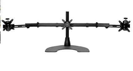 Ergotech Triple lCD Monitor Desk Mount W  Telescopic Wings 27  Up to 25 Pounds