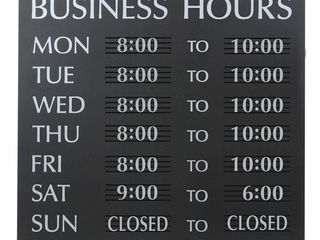 U S  Stamp and Sign Century Business Hours Sign