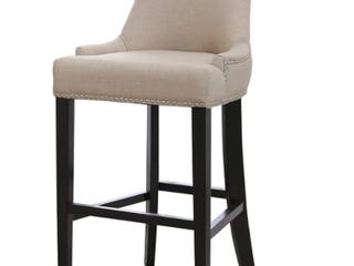 Abbyson   Beige   Nail Head Trim   Club Bar Stools Chairs