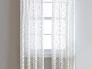 Pair of lyric Rod Pocket Sheer Curtain Panels