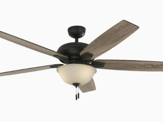 Harbor Breeze Cooperstown 62 in Bronze led Indoor Ceiling Fan With light Kit  Missing Globe