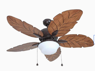 Ceiling Fan Waveport 52 in White led Indoor outdoor light Kit Heavy Du  5 blade