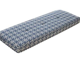 Blue   Geometric Pattern   Bench Seat Cushion