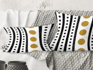 Designart Retro Geometrical Abstract Pillow