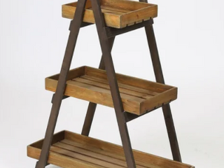 3 Tier ladder Plant Stand   Espresso Color