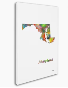 large Multicolor Maryland Painting