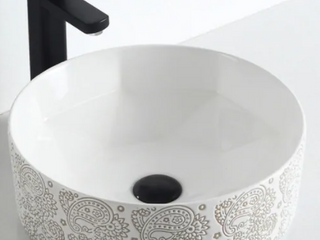 Calle  Cotton White Plus Collection  Vitreous China Vessel Sink   Retail 104 99