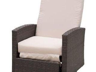 Outsunny Rattan Wicker Swivel Rocking Chair