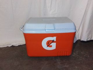 Orange Rubbermaid Gatorade Plastic Cooler