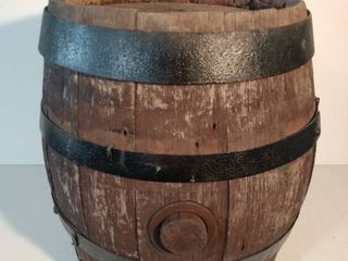 Small Wooden Wine Barrel With Black Metal Straps From White Ways Winery