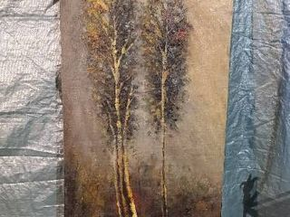 large Oil Painting on Canvas  Pair of Trees