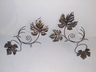 lot of 2 Metal Wall Hanging Candle Holders