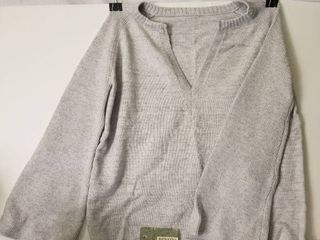 Cute V Neck Grey Sweater  Brand New With Tag  Hzsonne