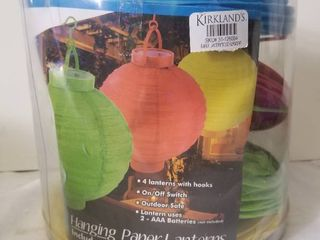 Kirkland Four Paper lanterns in Factory Packaging  Outdoor Safe