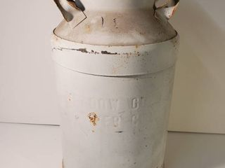 White Metal Milk Jug  Stamped with Meadow Gold