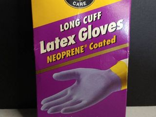 long Cuff latex Gloves Neoprene Coated
