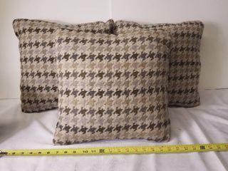 Three Smaller Decorative Pillows  In Good Condition