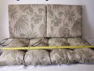 Three Outdoor Bench Cushions