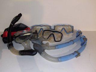 lot of 7 Aqua lung Sport Snorkeling Gear Pieces