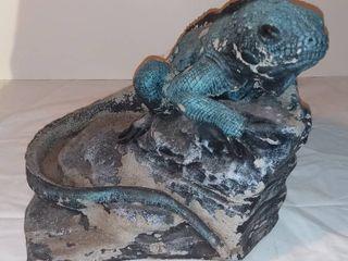 Cool Iguana Cement Statue