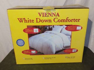 Vienna King Size White Down Comforter