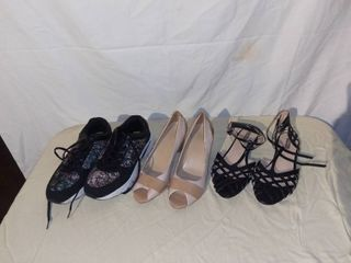 lot of 3 Pairs of Womens Shoes