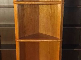 Four Tier Wood Corner Cabinet