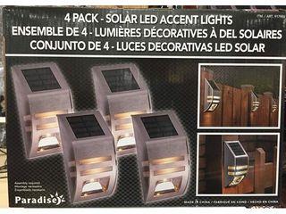 Solar lED Accent lights   4 Pack