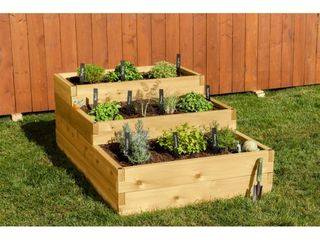 YardCraft 4 Way Raised Garden Bed