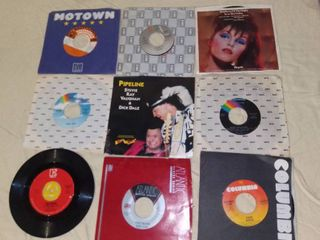 lot of 9 80s Music Records 45 RPM