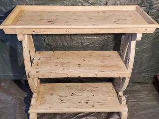 Rustic 3 Tier Shelf  with Distressed look