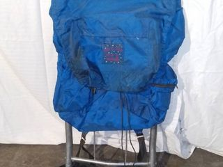 Vintage Down Fill Country USA Aluminum Frame Hiking Backpack