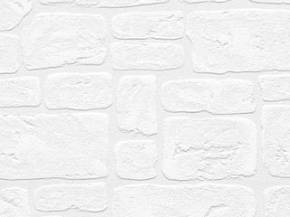 Andrew White Textured Paintable Bricks 33 foot x 21 Wallpaper   33 foot x 21