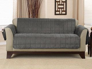 Sure Fit Deep Pile Velvet loveseat Furniture Protector with Paw Print Reverse  Retail 86 49