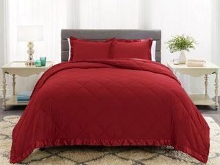 Empyrean Bedding Satin Trim Quilted Microfiber Comforter Set