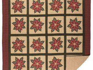 National Quilt Museum Poinsettia Block Quilt  Retail 119 99