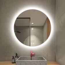 Smart lED Illuminated Vanity Round Mirror In light With Anti fog  Retail 139 99