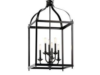 Kichler larkin Black Foyer Chandelier  Retail 399 99