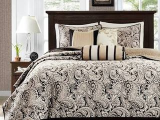 Gracewood Hollow Abley Black Quilted Coverlet Set  Retail 109 98