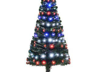 Green Multi  5  H Artificial Holiday Pre lit Fiber Optic   lED light Up Christmas Tree